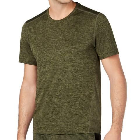 Ideology Mens Activewear T-Shirt Green Size 2XL Mesh Core Short Sleeve 024