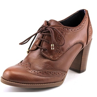 Tommy Hilfiger Fabiole Women Round Toe Leather Brown Oxford