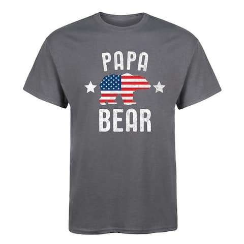 Papa Bear Patriotic - Adult Short Sleeve Tee