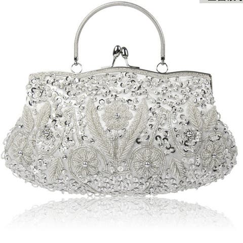 Women's Banquet Bag Clutch Handmade Beaded Embroidered Dresses Evening Bag Wild Party Product Multi-Color - One Size