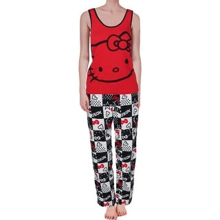 Hello Kitty Womens Juniors 2PC Fleece Pajama Set