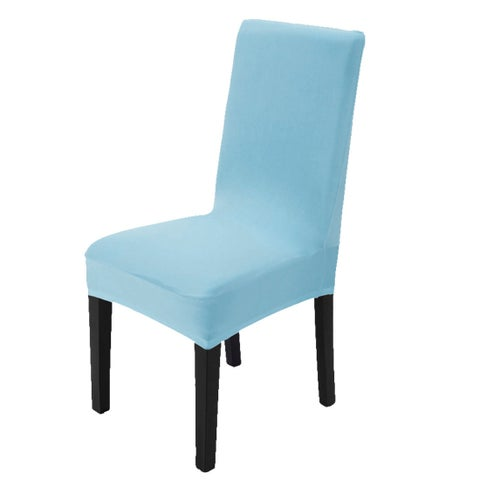 Unique Bargains Sky Blue Spandex Stretch Washable Dining Chair Cover