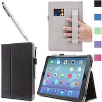 iPad Mini with Retina Display Case, i-Blason, iPad Mini Leather Case with Bonus Stylus-Black