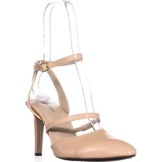 Rialto Calina Pointed-Toe Dress Pumps, Natural/Patent