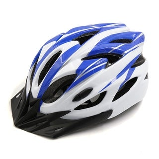 Father s Day Gift l Blue White 18 Vents Unisex Adjustable MTB Bicycle Bike Cycling Integrated Helmet