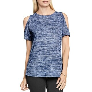 Two by Vince Camuto Womens Casual Top Heathered Cold Shoulder