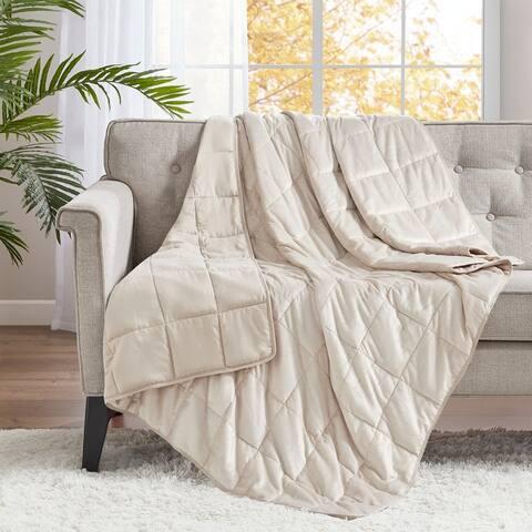 Sleep Philosophy Mink to Microfiber Weighted Blanket