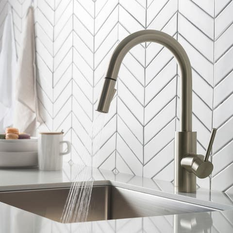 Kraus KPF-2620 Oletto 1-handle 2-function Pulldown Kitchen Faucet
