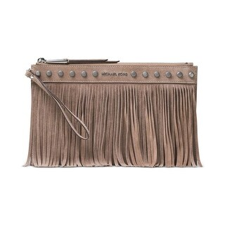 MICHAEL Michael Kors Womens Billy Clutch Handbag Suede Fringe - Small