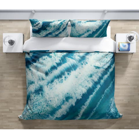TROPICAL WAVES Duvet Cover By Christina Twomey