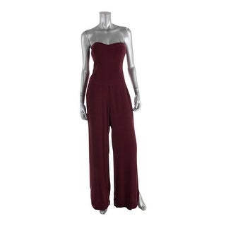 Twelfth St By Cynthia Vincent Womens Strapless Side Slit Jumpsuit - 8