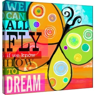 "PTM Images 9-100986  PTM Canvas Collection 12"" x 12"" - ""Dream Every Day - Dream"" Giclee Butterfly Art Print on Canvas"