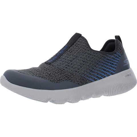 Skechers Mens Go Run Focus-Raptor Running Shoes Fitness Slip On - Charcoal Blue