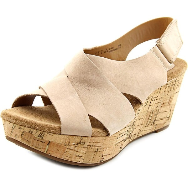 44961f9aafa Shop Clarks Artisan Caslynn Shae Women Open Toe Leather Nude Wedge ...