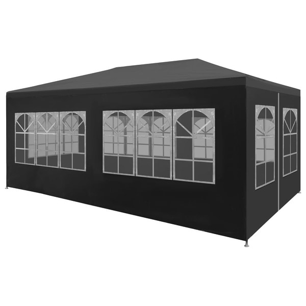 """vidaXL Party Tent 9'10""""x19'8"""" Anthracite Outdoor Canopies Pavilion Gazebo"""