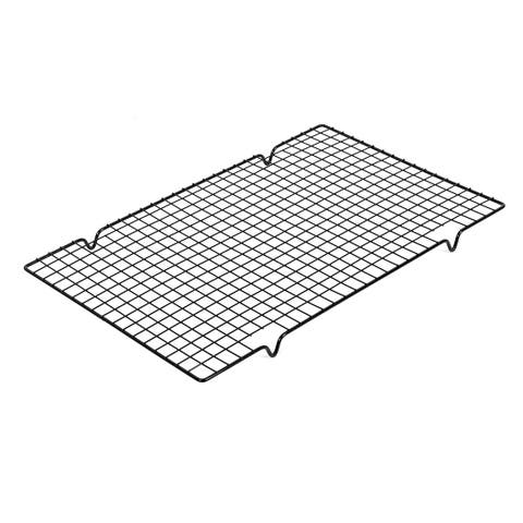 Unique Bargains Outdoor Camping Metal Barbecue Baking Cooling Rack Cookware Black 40x25.5cm