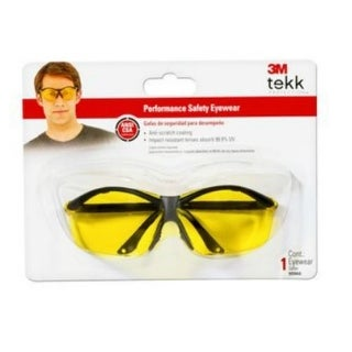 3M 90966-80025T Tekk Protection Safety Eyewear, Yellow