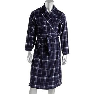 Jockey Mens Microfiber Belted Long Robe - o/s