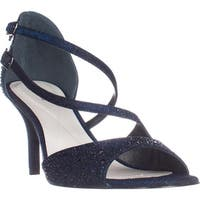 A35 Cremena Sparkle Strappy Dress Sandals, Midnight
