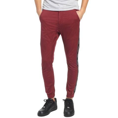 Nxp Nena And Pasadena Mens Firebrand Taped Chinos Pants 34 Bordeaux