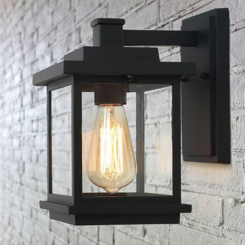 """Modern Black 1-light Outdoor Wall Sconces Patio Lamps - 6.7"""" * 9.1"""" * 11.8"""""""