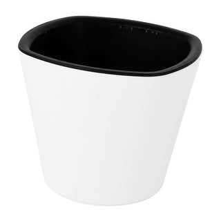 Flower Plant Plastic Self Watering Planter Flowerpot Container Pot White