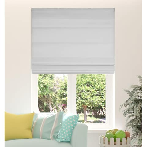 Arlo Blinds Grey Light Filtering Cordless Fabric Roman Shades