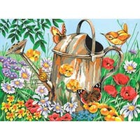"""Watering Can - Paint By Number Kit 12""""X16"""""""