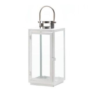 Large Carrel White Lantern