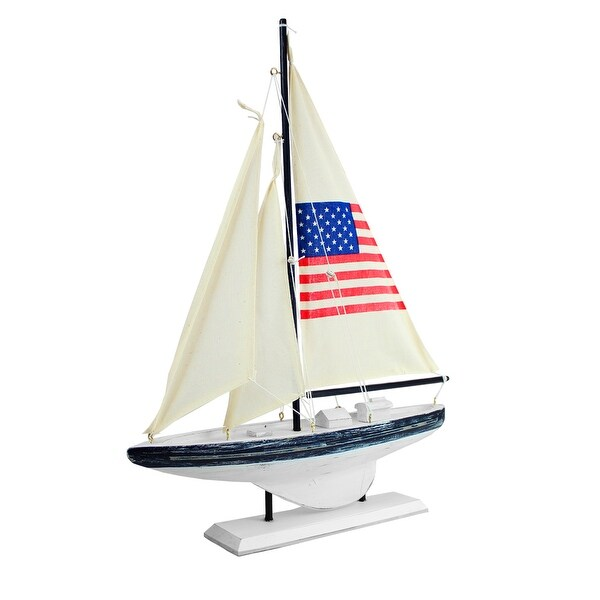 Sailboat featuring an American Flag Sail