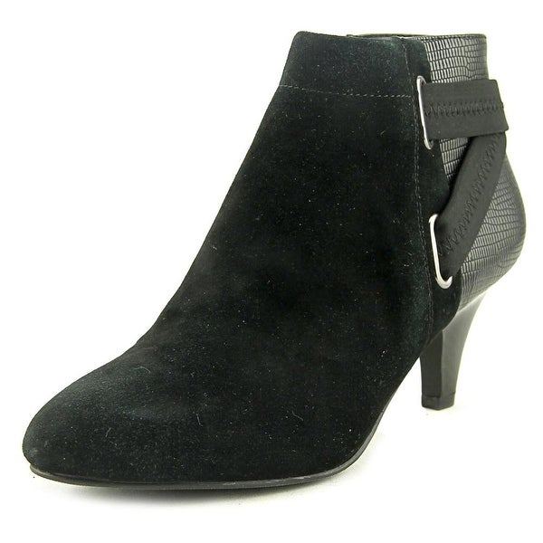 Alfani Vandla 2 Women Round Toe Suede Black Ankle Boot