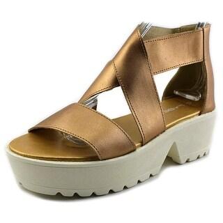 C Label Darla 2 Open Toe Synthetic Platform Sandal