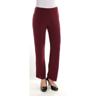 Womens Maroon Casual Wide Leg Pants Size S