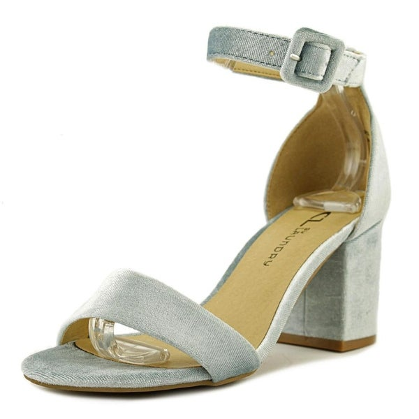 CL By Laundry Jody Women Open Toe Canvas Blue Sandals