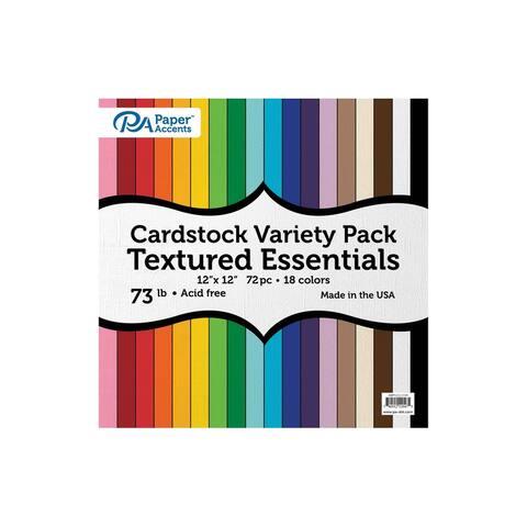 Variety Pk 12x12 72pc 73lb Txtrd Essential Cdstk
