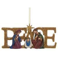 Peace Holy Family Nativity Scene Christmas Holiday Ornament