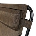 Sunnydaze Dark Brown Oversized Zero Gravity Lounge Chair - Thumbnail 3