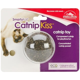 SmartyKat Catnip Kiss Cat Toy Compressed Catnip Ball