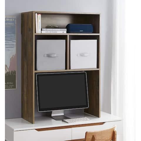 Yak About It Extra Depth Cube Dorm Desk Bookshelf - Rustic