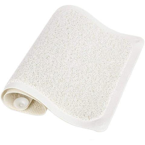 HUJI Slip-Resistant Loofah Shower Mat