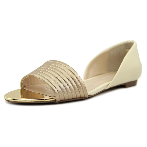 Alfani Isszee Women Open Toe Synthetic Gold Sandals