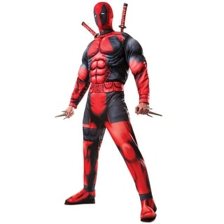 Rubies Deluxe Deadpool Adult Costume - Red