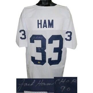 0b6c4b7f6 Shop Jack Ham signed White TB Custom Stitched Football Jersey CHOF ...