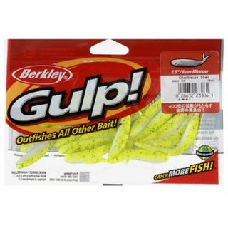 "BerkleyA GMI2-CS Plastic Minnow Grub, 2.5"", Charteuse Color, 18 Count"