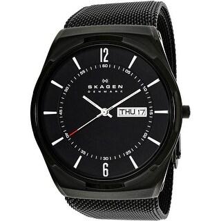 Skagen Men's Aktiv SKW6006 Black Stainless-Steel Quartz Fashion Watch