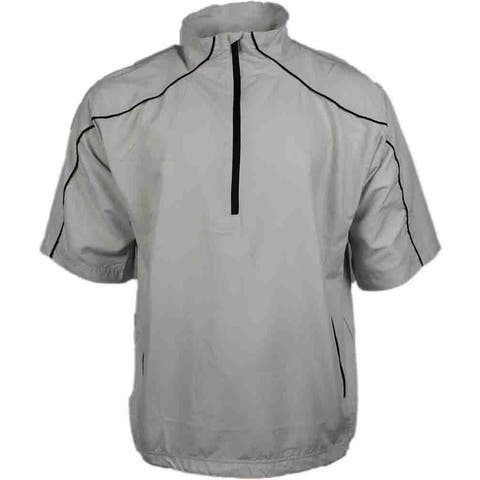 Page & Tuttle Mens Free Swing Short Sleeve Peached Windshirt Golf Athletic Outerwear Jacket