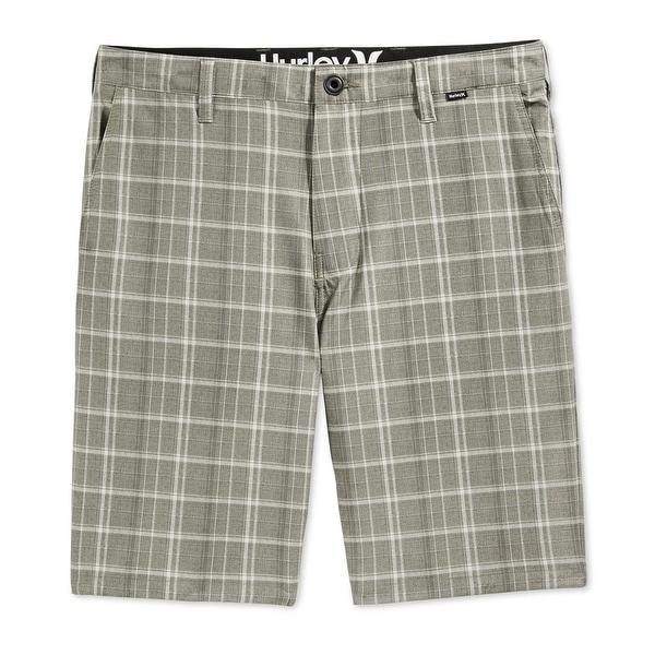 77bf1c1430 Shop Hurley NEW Khaki Beige Mens Size 32 Phantom Davis Plaid Board Shorts -  Free Shipping On Orders Over $45 - Overstock - 18323849
