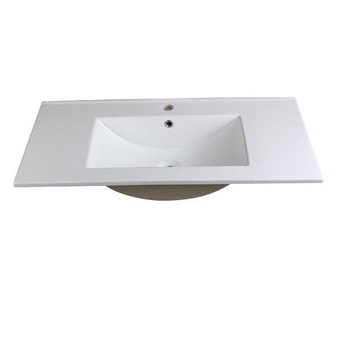 """Fresca Allier 36"""" White Integrated Sink / Countertop"""