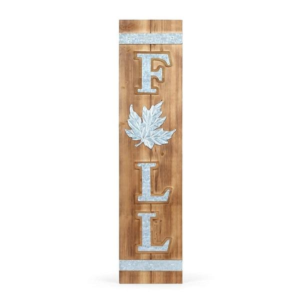 "39.25"" Wooden Indoor Decorative Fall Rectangular Wall Plaque - N/A"