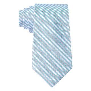 Calvin Klein CK Light Blue Corona Stripe II Slim Silk Blend Tie Necktie